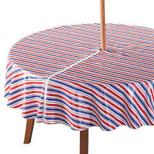 details about patriotic zippered sun umbrella vinyl tablecloth 70 inch round flannel backing
