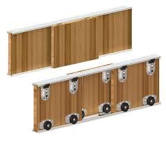71nyjtl3ikl sl1361 y wardrobe diy sliding doors kits 3 door 2000mm twin track gear system ares