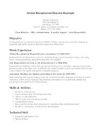 Spa Receptionist Resume Stunning Dental Receptionist Resume Objective Top 48 Front Desk Samples 48