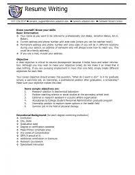 Basic Resume Objectives Resume For Study
