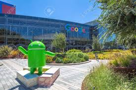google office in usa. Mountain View, California, USA - August 15, 2016: Android Nougat Replica In Google Office Usa C