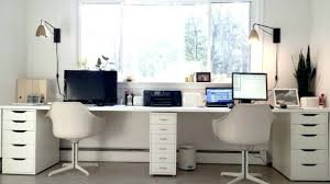 Amazing 2 Person Corner Desk With Regard To Double Black Furniture Desks  For Home Office ...