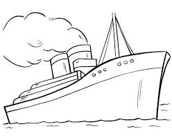 Boot Kleurplaat Inkleuren