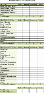 basic budget worksheet college student spreadsheet example of college student budget template awesome basic