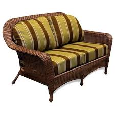 tortuga outdoor sea pines wicker loveseat replacement cushion