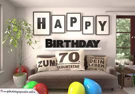 Happy Birthday 70 Jahre Wohnzimmer Sofa Mit Kissen Und Spruchjpg