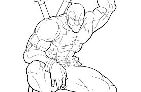 Printable Deadpool Coloring Pages Coloring Pages Cartoon Coloring