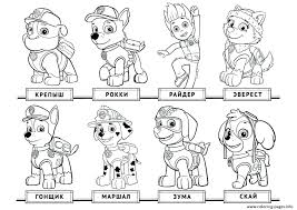 Paw Patrol Pictures To Color C6016 Paw Patrol Coloring Pages Photo