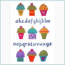 Cup Cake Sampler Cross Stitch Chart