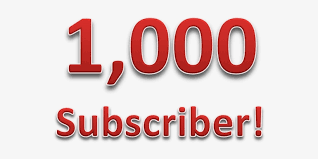 Transparent Youtube Subscriber - 1000 Subs Transparent PNG - 804x558 - Free Download on NicePNG