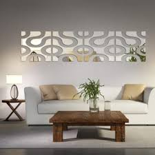 area mirror tables for living room. 3d wall mirror diy acrylic home decor (2l+2r)/set color:silver size:30cm*120cm - intl area tables for living room