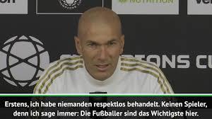 Zidane Habe Bale Nicht Respektlos Behandelt Video