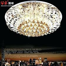 flush mount mini chandeliers crystal