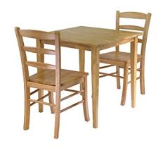 dining set wood. winsome groveland 3-piece wood dining set, light oak finish set h