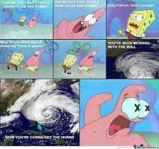 Hurricane Sandy+Spongebob=Endless Post by manpedobearpig - Meme Center via Relatably.com