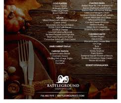 battleground will be hosting its annual thanksgiving dinner buffet on thursday november 24 2016 from 12 00 4 00pm with seatings on the half hour
