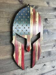 american flag wood rustic man cave