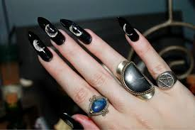 Wiccan Nail Art Etsy. Ouija Board Halloween Hand Painted Nail Art ...