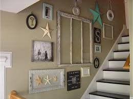 decorating a staircase wall staircase wall decorating ideas beach style staircase other model