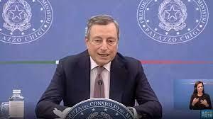 Draghi e il ministro Franco in conferenza stampa La diretta