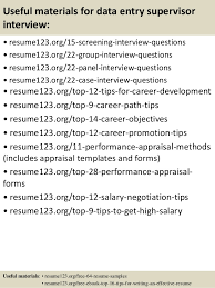 15 useful materials for data entry resume for data entry