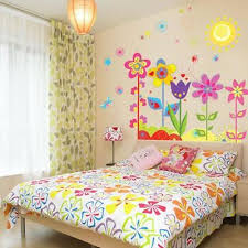 removable flowers sunshine wall sticker