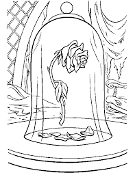Beauty And The Beast Coloring Page Beauty Beast Rose All Kids