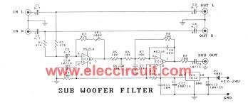 cheap car subwoofer circuit cheap car subwoofer filter circuits m5218a