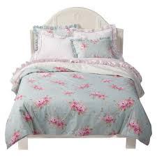 rachel ashwell simply shabby chic belle hydrangea rose twin duvet sham set new