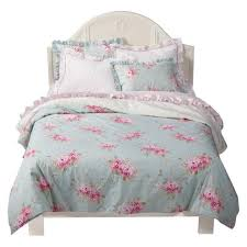 rachel ashwell simply shabby chic belle hydrangea rose twin duvet sham set new