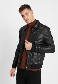 zagreb leather jacket black