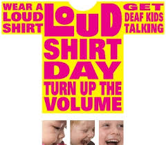 Image result for loud shirt day