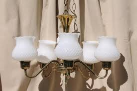 vintage chandelier glass shades