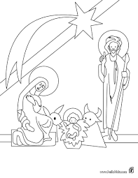 Small Picture Coloring Pages Christmas Story Nativity Scene Coloring Page