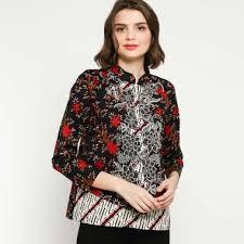 Motif dengan model baju batik merupakan motif yang identik milik indonesia. Jual Model Baju Atasan Batik Wanita 2020 Harga Termurah Blibli