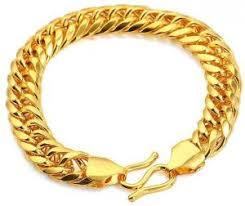 24k real gold plated men s cly link bracelet
