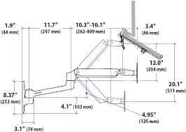 sit stand wall mount laptop arm