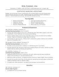 Cna Sample Resume Cool Cna Objective For Resume Sample Resume Certified Nursing Assistant