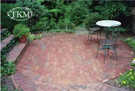 round patio. Drylaid Round Brick Patio | By Kings Masons