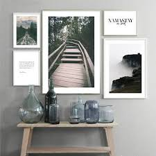 <b>Scandinavian</b> Forest <b>Landscape</b> Canvas Poster <b>Minimalist Nordic</b> ...