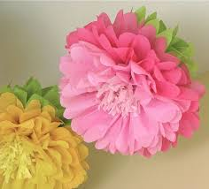 Tissue Paper Flower Ideas Giant Tissue Paper Flowers Bursting Out Of The Ceiling