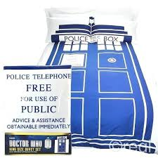 tardis bed doctor who king size duvet cover pillowcase set bedspread bed linen tardis bedside lamp