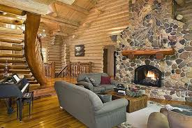 home living fireplaces log home living room with large giant cobblestone fireplace and custom home living home living fireplaces