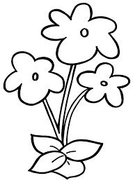 Flower Coloring Sheets Preschool With Blumen Ausmalbilder Dekoking