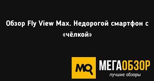Обзор <b>Fly View</b> Max. Недорогой смартфон с «чёлкой» - MegaObzor