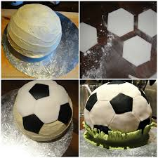 Mini Soccer Ball Decorations Enchanting Soccer Ball Cake How To ⋆ Look At What I Made