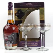 courvoisier vsop cognac gift pack includes 2 glasses whisky