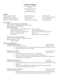 Assistant Psychologist Sample Resume Research Psychologist Resume Psychologist Resume Clinical 2