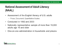 National assesment of adult literacy