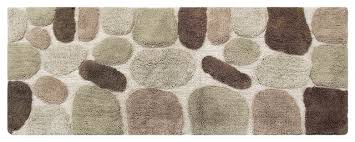 chesapeake pebbles khaki bath rug runner 45090 24 x